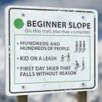Honest Ski Signs