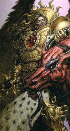 Sanguinius and Daemon Head
