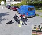 Fishmen greet the Google-Mobile