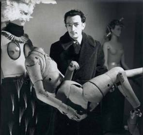 Salvador Dali being all weird