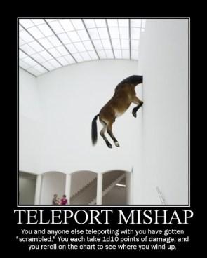 teleport mishap