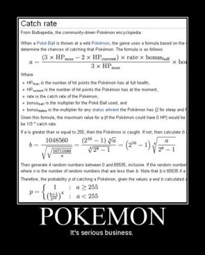 Pokemon Catch Rate