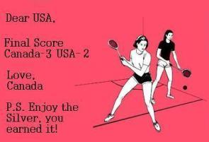 Final Score Canada 3 USA 2