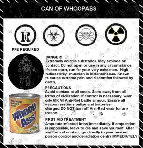 WHMIS for a can of whoop ass