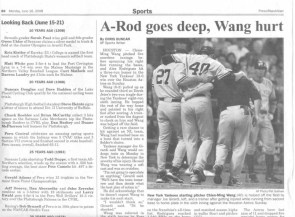 A-Rod goes deep, Wang hurt
