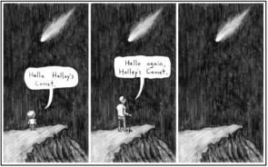 Hello Halley`s Comet