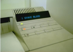 Bloodthirsty printer