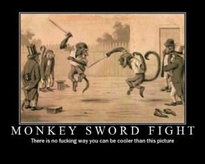 Monkey Sword Fight
