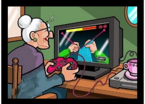 knitting, video game style