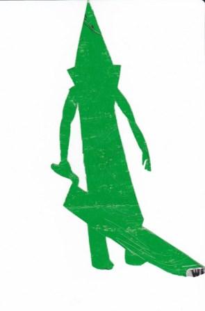 Green Pyramid Head Silhouette
