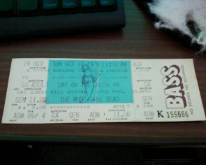 What is this 1976 The Who and The Dead concert ticket worth?