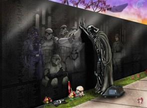 Darth Vader Visiting The Memorial