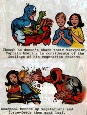 Captain America is nicer than Deadpool