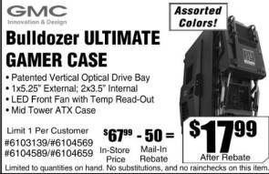 GMC Bulldozer R4 gaming case – $17.99!