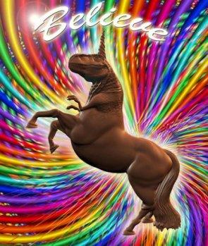 Believe in The Chocolate Unicorn Dinosaur
