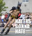 Gay rollin` Batman