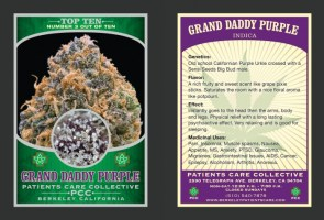 Weed trading cards
