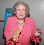 betty white eats a hot dog