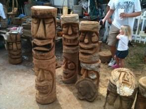 Random Tiki Carvings