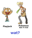 Flapjack vs Pokemon