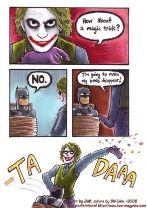 Joker tricks Batman