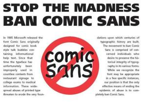 wtf is wrong with comic sans?