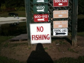 no fishing in fishing lake