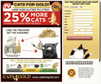 CATS FOR GOLD! TURN YOUR GLITTER TO LITTER!