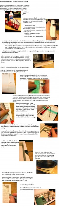 How to make a secret hollowed out book