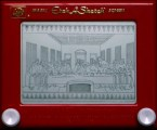 Etch-A-Sketch Last Supper