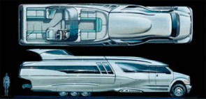 The Bigfoot Highwave Boater Home – Futuristic Hauler and Luxury Cabin Cruiser Together