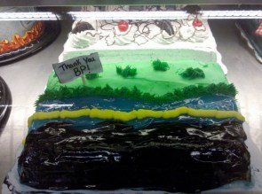 Oil Slick cake