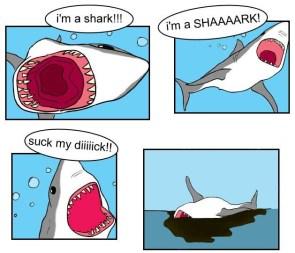 I'm a shark – blarg I'm dead