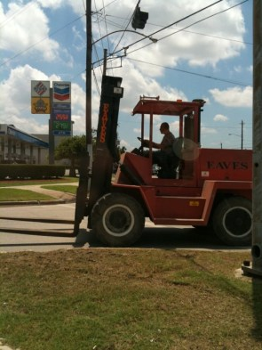 Forklift On the Road