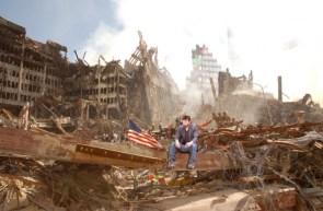 sad keanu in WTC rubble