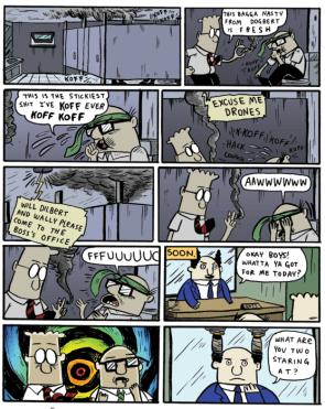 Dilbert gets baked