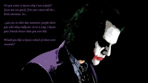 The Joker and knives