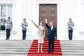 the new German president and his wife
