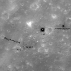 Apollo 16 site snapped from orbit