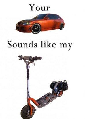 You're car sounds like my go ped v2