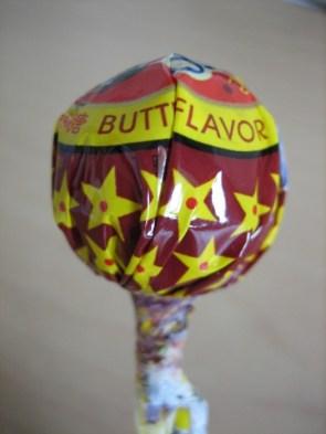 Butt flavor lollipop