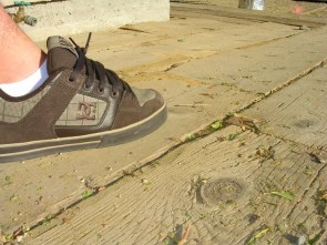 Side shot of my DC shoes