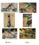 Mini chopper paint – before and after