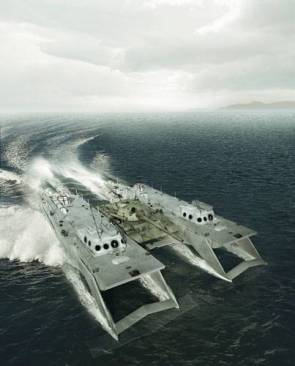 High speed tank landing craft