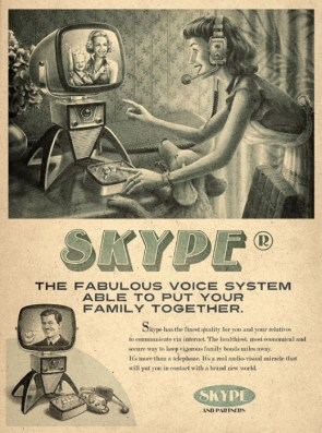 Old Time YOUTUBE SKYPE FACEBOOK ads