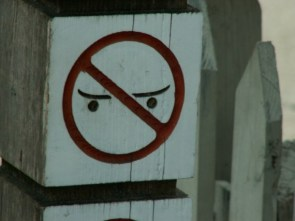 Annoyed sign is annoyed
