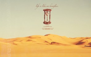 Life is like an hourglass Wallpaper