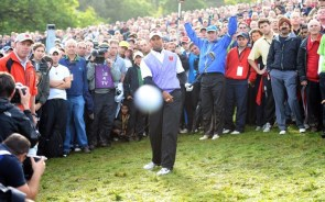 The moment Woods's Ryder Cup challenge was halted… by a Meme