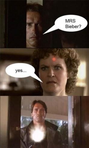 Terminator VS Justin Bieber`s mom