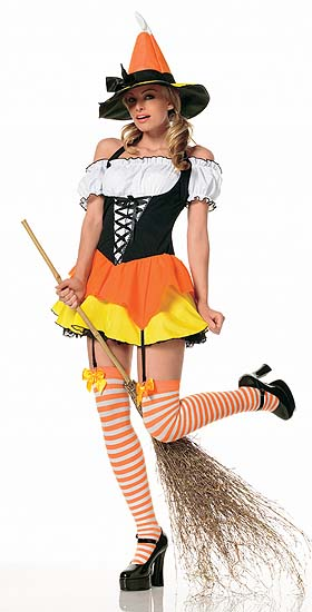 Babe in Candy Corn Costume